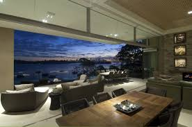 The Waterfront House Designs by Living Room With View At Modern Waterfront House Design By