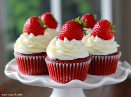 Strawberry Red Velvet Cupcakes – Your Cup of Cake