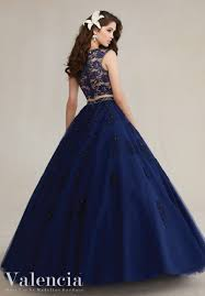 quinceanera dress 89088 two piece tulle ball gown with beaded lace