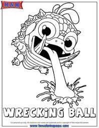 Skylanders Giants Magic Wrecking Ball Coloring Page