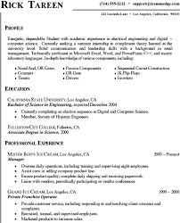 Science Resume With No Experience Sample Computer Student Pictures In Gallery For