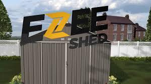 Arrow Galvanized Steel Storage Shed by Arrow Ezee Storage Sheds Sizes 6x5 8x7 And 10x8 Youtube