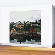 100 Houses In Norway Pictoresque Houses In Wall Mural