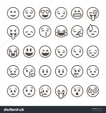 Emoji Clip Art Black And White Clipart