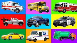 Quick Cars Pictures For Kids Learning Street Vehicles Names And ...