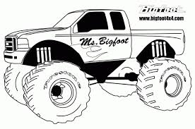 Monster Truck Coloring Pages Of Trucks Best For Kids Many ...