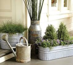 Galvanized Metal Tubs Buckets & Pails as Planters