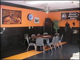 Harley Davidson Living Room Decor Ideas Dens Theme Decorations Flames On Wall Cladding Wallpapers