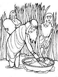 13 Baby Moses Coloring Pages
