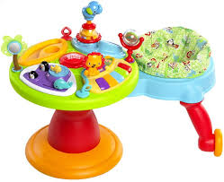 table d activité avec siege rotatif bright starts table d activités activity center zippity zoo 3 in 1