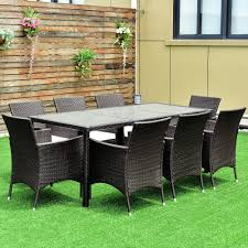 [Hot Item] Outdoor 9PCS Patio Furniture Brown Rattan Table Chairs Garden  Dining Set With Cushions 315 Round Alinum Table Set4 Black Rattan Chairs 8 Seater Ding Set L Shape Sofa Brown Beige Garden Amazoncom Chloe Rossetti 17 Piece Outdoor Made Coffee Table Set Stock Photo Image Of Contemporary Hot Item Modern Fniture Stainless Steel And Lordbee Large 5 Pcs Patio Wicker Belleze 3 Two One Glass Details About Chair Cushion Home Deck Pool 3pc Durable For Pcs New Y7n0