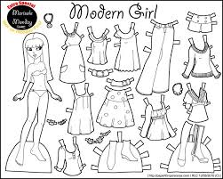 Marisole Monday Modern Girl In Black White Paper Doll TemplatePaper Dolls PrintablePictures Of GirlsClothes