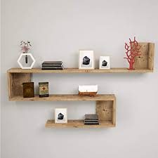 yurupa wandregal wandboard hängeregal mit 3 böden bilderregal bücherregal büroregal küchenregal holzregal für