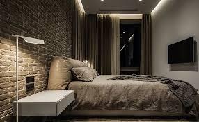 das schlafzimmer der männer innenarchitektur im stil des