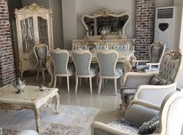 casa padrino luxus barock esszimmer set hellblau dunkelblau weiß gold 1 esstisch 8 esszimmerstühle prunkvolle esszimmermöbel im barockstil
