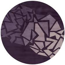 100 Fritz 5 Momeni New Wave Purple Wool Area Rug 9 X 9 Round