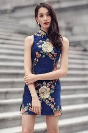 restock royale enchanted cheongsam in navy the closet lover
