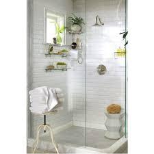 beveled white subway tile shower olioboard