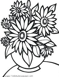 Large Print Flower Coloring Pages Printable For Adults Abstract Archives Fairies