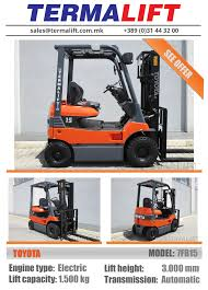 TOYOTA | Forklift For Sale | Model: 7FB15 | Engine Type: Electric ... Toyota Forklifts Material Handling In Kansas City Mo Core Ic Pneumatic Toyotalift Of Los Angeles 6000 Lb 025fg30 Forklift New Engine Decisions What Capacity Do I Need Types Classifications Cerfications Western Materials 20758 8fgcu25 Propane Coronado Equipment Sales Mid Lift Northwest Seattle Portland The Parts Service California Inmates Refurbish 1971 Toyota Forklift Advantages Prolift Drum Positioner Liftow Dealer Truck Traing Tire Usa Inc Car Order