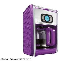 Bella 13926 Purple Diamonds 12 Cup Programmable Coffee Maker