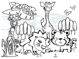 Printable Animals Coloring Pages Animal Sheet Free