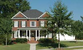 Federal House Plans Traditional Red Brick