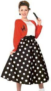 50s Style Sock Hop Polka Dot Rocker Costume Theme Party Outfit