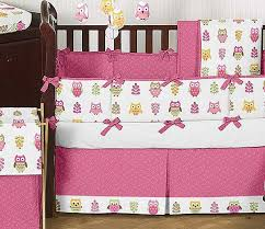 Happy Owl Crib Bedding Set by Sweet Jojo Designs 9 piece