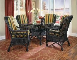Lovely Harbor Front Wicker Dining Set Also Custom Room Chair Cushions Snap