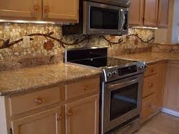 vine mosaic tile backsplash