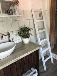 badezimmer handtuchleiter 165x37 cm handtuchständer landhaus