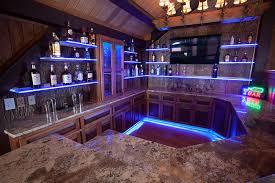 toe kick cabinet and shelf lighting using led lights and