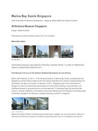 100 Bay Architects Marina Sands Singaporedocx Museum Library And Museum