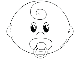 Free Mickey Mouse Face Coloring Pages Smiley Cute Monkey Baby Pacifier Template Page Large Size