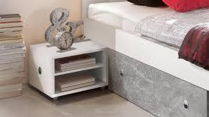 schlafzimmer stefan box 5 bett schrank weiß beton 180x200