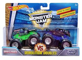 100 Biggest Monster Truck Amazoncom Hot Wheels Jam Demolition Doubles Grave Digger