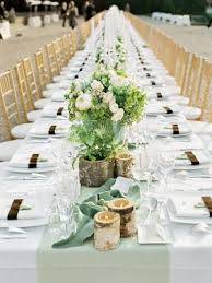 Long Wedding Reception Table Settings Round Tables For