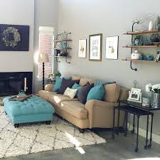 grey and turquoise living room fpudining
