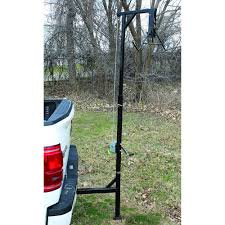 100 Deer Hoist For Truck HME Adjustable Hitch W Gambrel Winch 400 Lb Capacity By