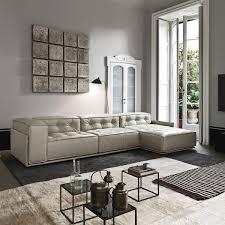 Modular Sofa Corner Minimalist Leather GLAMOUR Doimo Salotti