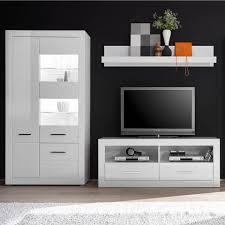 lomadox wohnwand balve 61 5 tlg wohnzimmer inkl vitrine mit led in hochglanz weiß bxhxt 265x198x45cm kaufen otto