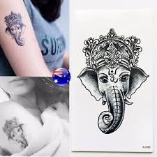 Image Is Loading Indian God Temporary Tattoo Hindu Ganesh Ganesa Fortune