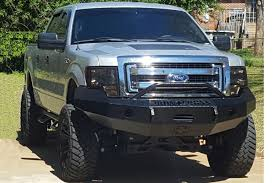 2009-2014 F150 Iron Cross Replacement Front Bumper - Push Bar Model ...
