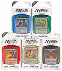 magic the gathering 2015 core set intro pack set of 5 da card