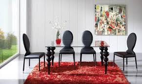 Classy Stylish Dining Table With Glass Top And Color Options