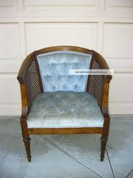 Vintage Mid Century Modern Cane Tufted Baby Blue Velvet Club ... Amazoncom Wwwlaurelcrowncom French Country Cane Chair Vintage Josef Hoffman Bentwood Prague 811 Ding Set Cane Back Ding Chairs Musicatono Woman In Real Lifethe Art Of The Everyday Antique Chairs Wooden Baby High With Seat Whats It Worth Carriage A Common Colctible But Victorian Pair Tall Early 1900s Childs Wood Painted Vintage Oak Rocker Press Seat Seating Kinder Modern Boudoir Style Astonishing Fniture