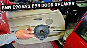 BMW FRONT DOOR SPEAKER REPLACEMENT E90 E91 E92 E93 2007 2008 2009 ...
