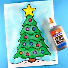 How To Make A Black Glue Christmas Tree Art Project