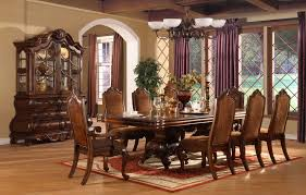 Dinning Room Furniture Traditional Dining Sets Vintage Inside The Brilliant Elegant Table Chairs With Regard To Household